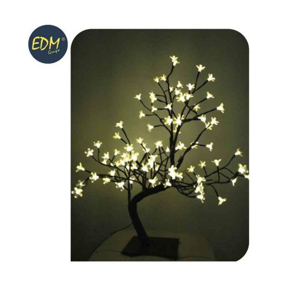 Árvore 3D Sakura Branco Quente 120 Leds 220-240V Ip20 60Cm E