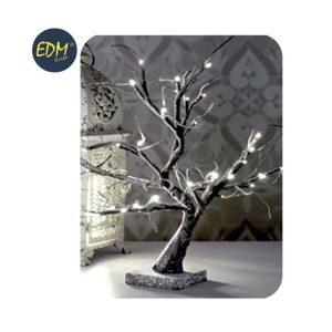 Árvore 3D Sakura Efeito Neve Branco Quente A Pilhas Ip20 45C