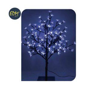 Árvore 3D Sakura Tronco Reto Azul 120 Leds 220-240V Ip20 60C