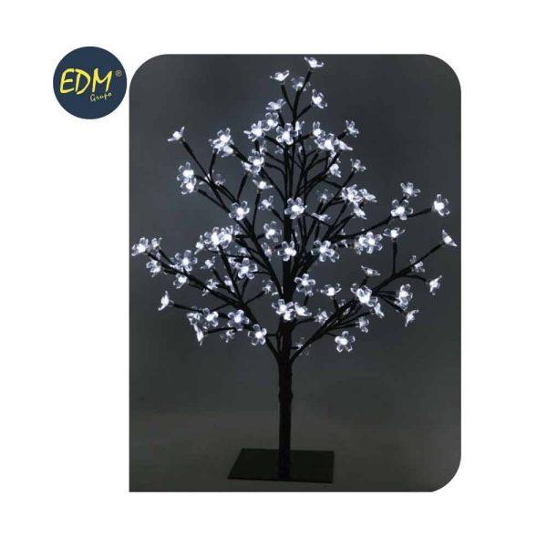 Árvore 3D Sakura Tronco Reto Branco Frio 120 Leds 220-240V I
