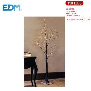Árvore De Natal Branco Quente 150 Leds Ip20 220-240V 1