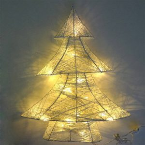 Árvore De Natal Decorativa Led Pilhas 3Xaa Autonomia 48 Hora