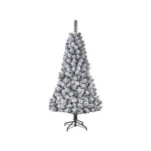 Árvore De Natal Efeito Nevado Com 164 Ramas 120X71Cm