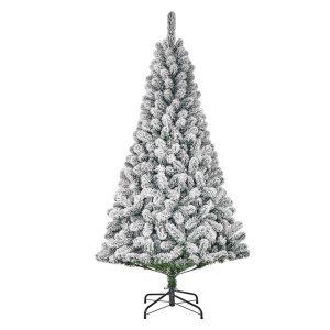 Árvore De Natal Efeito Nevado Com 600 Ramas 215X119Cm