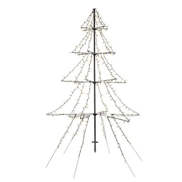 Árvore Luz Quente 420 Leds Com Moldura Metálica Preta 2Mts
