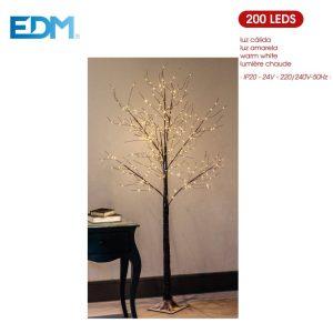 Árvore Natal 160Cm 200 Led Quente 220-240V