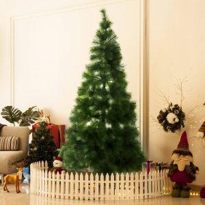 Árvore de Natal 210cm Artificial Árvore de Pinho com Suporte Metálico 505 Ramas