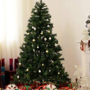 Árvore de Natal Artificial Árvore 180 cm com Suporte 745 ramas 200 Luzes LED