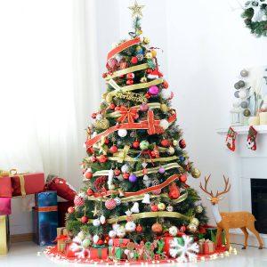 Árvore de Natal Artificial Árvore 180 cm com Suporte Metalico Luzes LED Brancas Cálidas Verde Natural material PVC