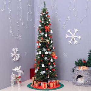 Árvore de Natal Artificial Árvore com Suporte 180cm 390 ramas Ecológico PVC Verde