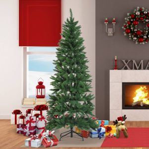 Árvore de Natal Artificial Árvore com Suporte 210cm 865 ramas Ecológico PVC Verde