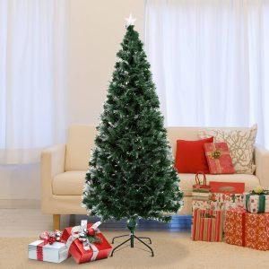Árvore de Natal Verde Φ84x180cm + Luzes LED Árvore Artificial