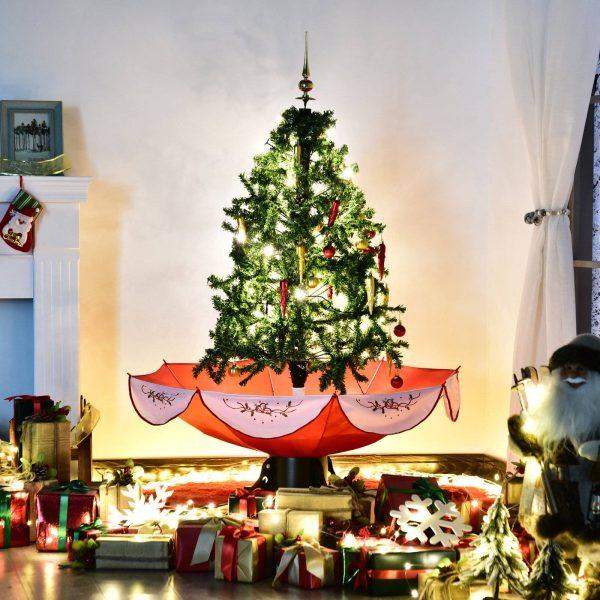 Árvore de Natal artificial ∅95x140cm Árvore com luzes LED com 25 músicas 40 lâmpadas Cena verde natural da neve Material de PVC
