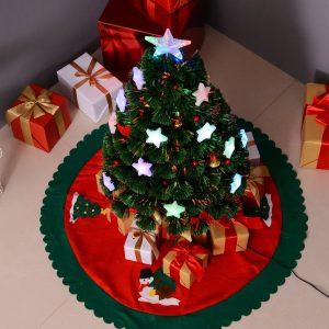 Árvore de Natal artificial 90cm Pinheiro Decoração de Natal com 12 LED 3 Cores 90 Ramos Verde PVC