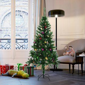 Árvore de Natal verde com enfeites Φ75x150cm Artificial Árvore Decoração