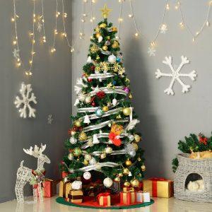 Árvore de Natal verde com enfeites Φ80x180cm Artificial Árvore Decoração