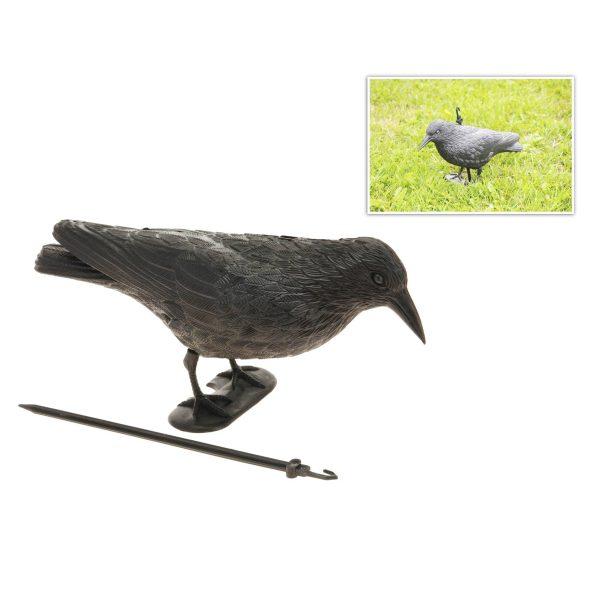Corvo Anti-Pássaros 39X13X18Cm (Ideal Para Jardim