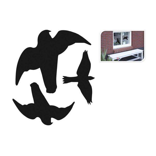 Autocolantes Pássaros Para Janelas 3 Formas Sortidas