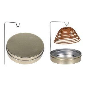Incenso Espiral Citronela Caixa Metálica Fácil De Guardar Devido A Caixa