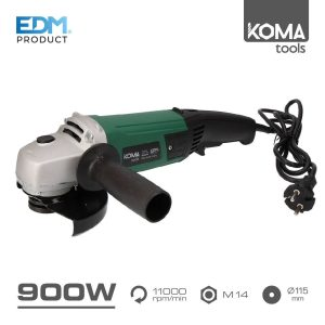 Rebarbadora 115Mm 900W Edm Maleta Edm 230-240V 50 Hz 11.000 Rpm 900W Disco Ø115Mm