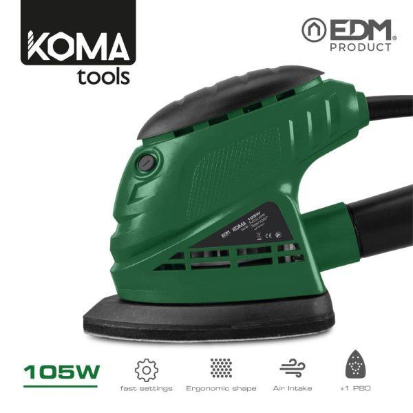 Lixadora Tipo Mouse 105W Koma Tools Edm. Base De Plastico. 2 Metros De Cabo. 12.000Rpm. Contém Um Tubo Para A Pó E Um Papel De Lixa. Medidas: 9.5X11X15.5Cm