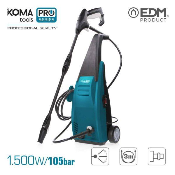 Lavadora Koma Tools   De Alta Pressão 105 Bar 1500W Edm 64X29