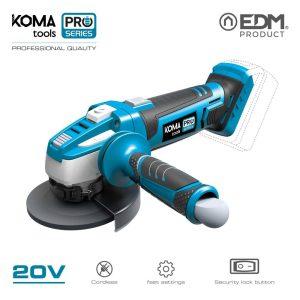 Rebarbadora 20V (Sem Bateria E Carregador) Koma Tools Battery Series Edm Rpm 9500 Para Disco De 115Mm Sistema De Proteçao 32