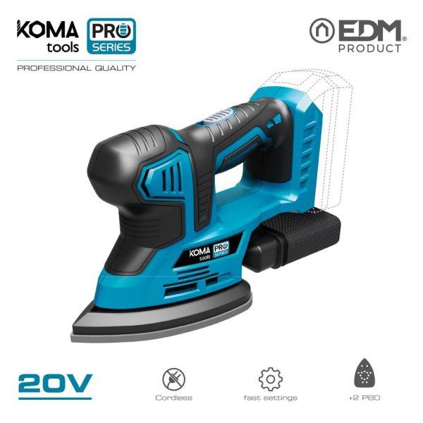 Lixador 20V (Sem Bateria E Carregador) Koma Tools Battery Series Edm Rpm 12000 Inclui 2 Sobresselentes E Saco Para O Pó 22