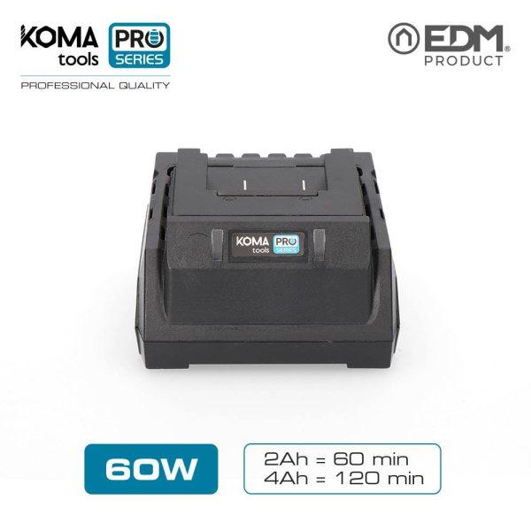 Carregador Bateria 60W Koma Tools Battery Series Edm 100-240V Carga 2