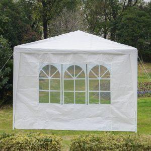 2 Lado Partições para Carpa 3x3 m 3x6 m Parasol Gazebo Parasol Oxford Pano À Prova D 'Água com a janela Mede 300x200 cm
