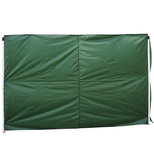 2 paredes Parte lateral para tenda 3x3m lado gazebo A tela impermeável de Oxford com janela mede a obscuridade de 300x200cm-verde escuro