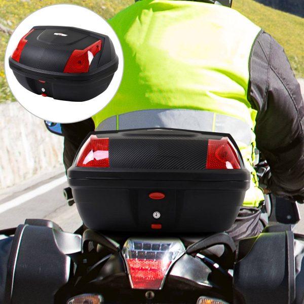 Baú da motocicleta Capacidade 48L Bloquear com duas chaves Acessórios 58x44