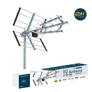 Antena Uhfa Tv Edm 470-790 Mhz Impedancia 75 Ohm Comprimento 700Mm 21-60Ch Anti Interferencias 15-20Db 17 Elementos 9-13 Dbi