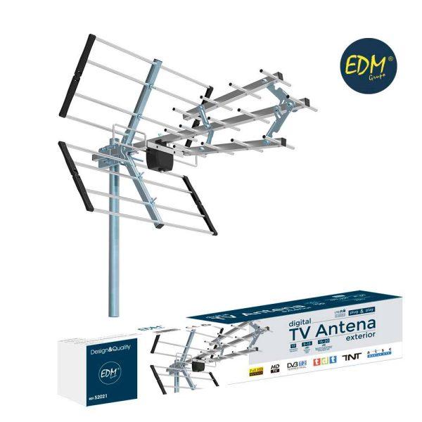 Antena Uhfa Tv Edm 470-790 Mhz Impedancia 75 Ohm Comprimento 700Mm 21-60Ch Anti Interferencias 15-20Db 17 Elementos 9-13 Dbi