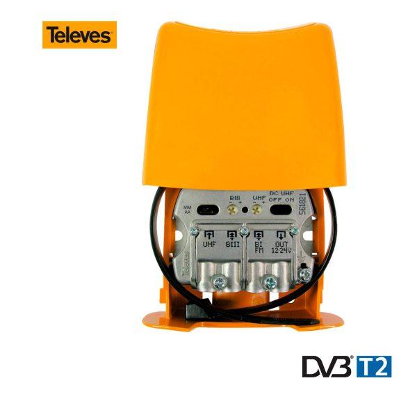 Amplificador De Mastro Tdt 2 Geração Nanokom Televes. Amplificador De Instalação Em Mastro Para Amplificar E Misturar As Sinais De Televisão Terrestre Que Provêem De Várias Antenas