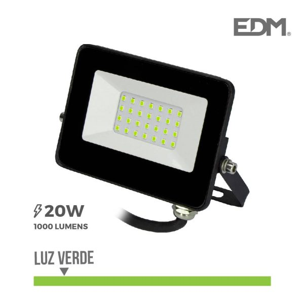 "Projetor Led 20W Luz Verde ""Black Edition"" Edm 8"