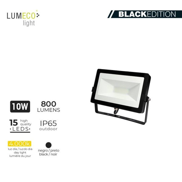 "Projetor Led 10W 4000K 800 Lumens ""Black Edition"" Lumeco 220-240V 2"