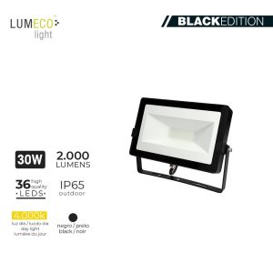 "Projetor Led 30W 4000K 2000 Lumens ""Black Edition"" Lumeco 220-240V 2"