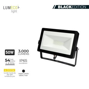 "Projetor Led 50W 4000K 3000 Lumen ""Black Edition"" Lumeco 220-240V 4"