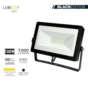 "Projetor Led 100W 4000K 7000 Lumen ""Black Edition"" Lumeco 220-240V 4"