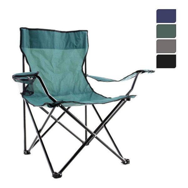 Cadeira Dobravel Para Campismo (Cores Sortidas) H81Xsd51Xsh42Cm Dia 150X0.8Mm