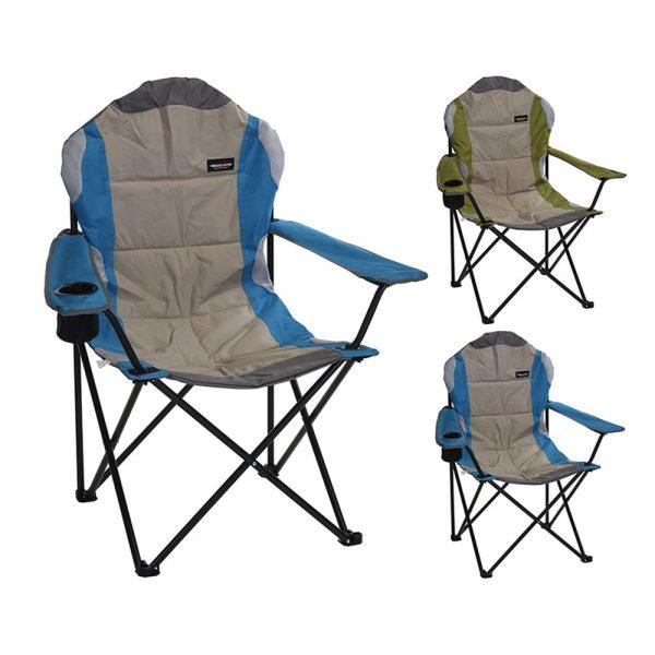 Cadeira Dobrável Metálica Para Campismo 108X60X60Cm Øtubo 18Mm
