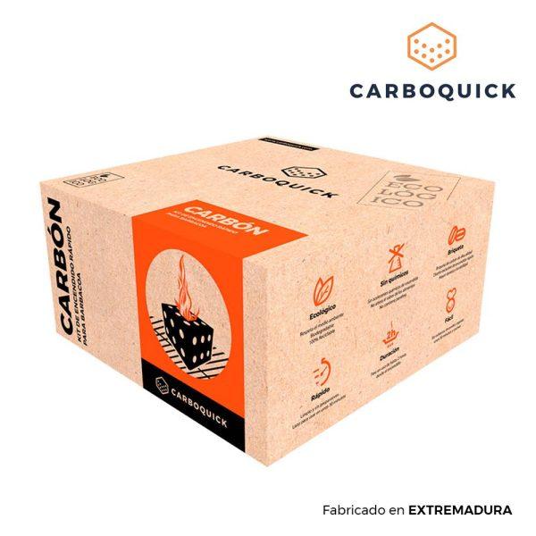 Carboquick Pratico Kit De Carvão Para Churrasqueiras 25X25X13Cm