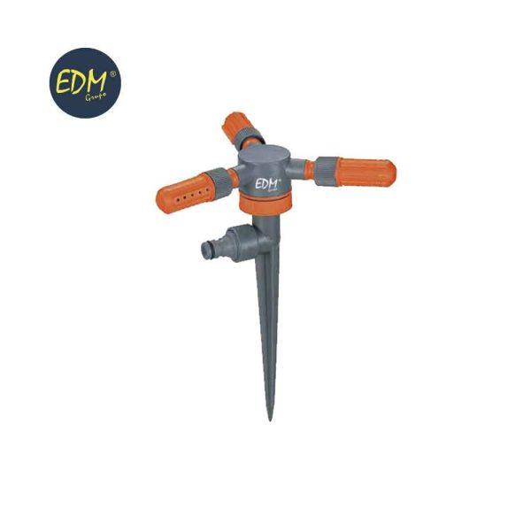 Aspersor Rotativo 3 Braços Com Estaca (Blister) Edm