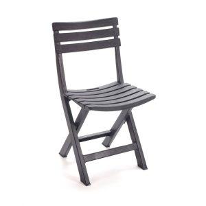Cadeira De Resina Dobravel Cor Preto 2