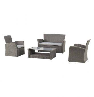 Set Bora Bora Sofa Duas Cadeiras E Mesa Cinzenta Poltrona 71X72X78Cm 8