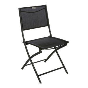 Cadeira Dobrável Para Exterior Cor Grafito Mod. Gamme Modula. Medidas 46X52X87Cm Peso 3