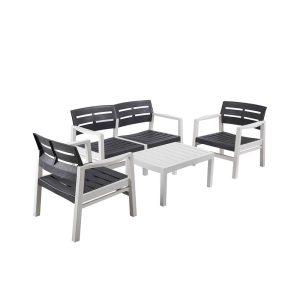 Conjunto De Sala De Estar Para Interior E Exterior Fabricado Com Materiais Reciclados Bicolor. Composto Por 2 Cadeirões (72