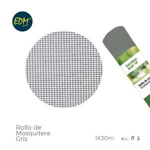 Rolo De Rede Mosquiteira Cinza 1X30Mts Em Fibra De Vidro Revestimento De Pvc Muito Resistente E Facil De Colocar