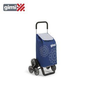 Carro Compra Tris Floral Blue 56L 30Kg Com 6 Rodas E Estructura De Aço